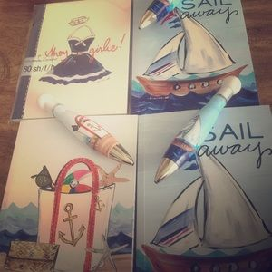 Nautical notepads and matching pens